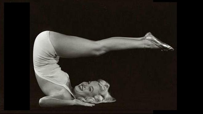 marilyn-monroe-yoga-plow-pose