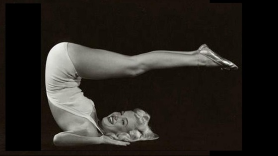 marilyn-monroe-yoga-plow-pose